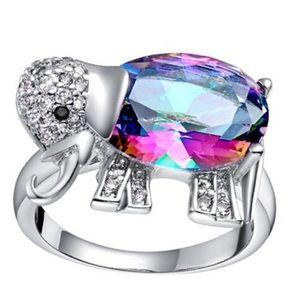 ❤️Multi-Color Elephant Ring Sz 7 ♥️